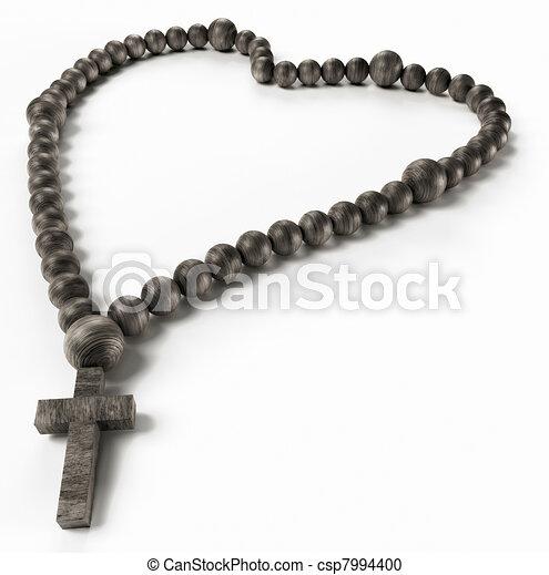 小珠, 玫瑰園, 宗教, 黑色, 或者, 型心撐, love: - csp7994400