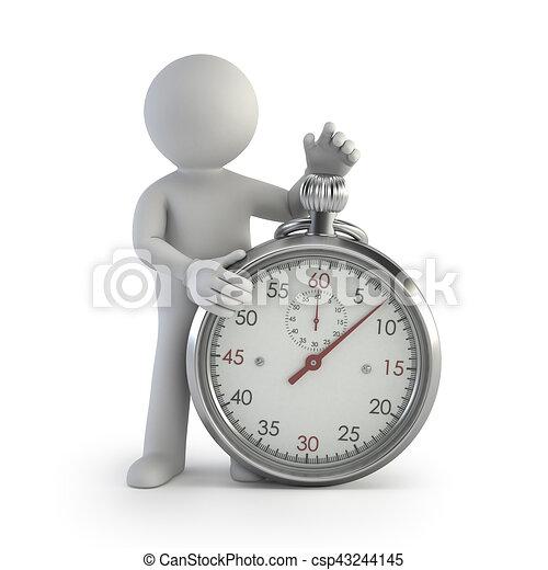 小, 记时计, -, 3d, 人们 - csp43244145