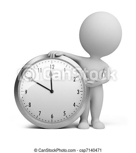 小, 鐘, -, 3d, 人們 - csp7140471
