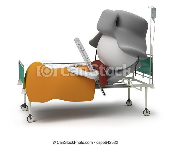 小, -, 3d, 病人, 人們 - csp5642522