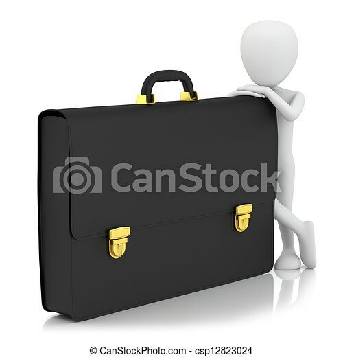 小, -, 3d, portfolio., 人们 - csp12823024