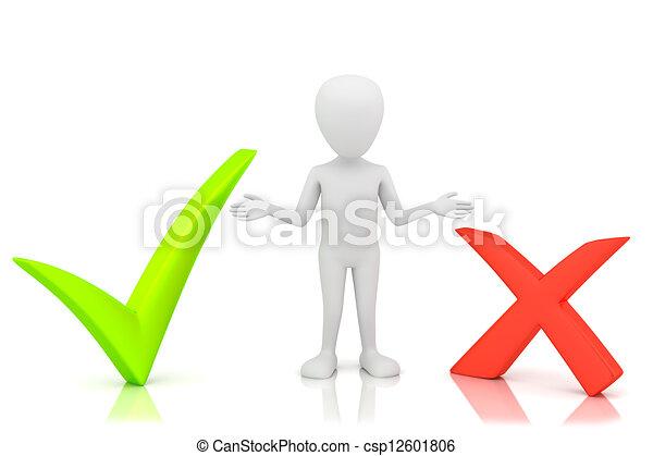 小, choice., 3d, -, 人们 - csp12601806