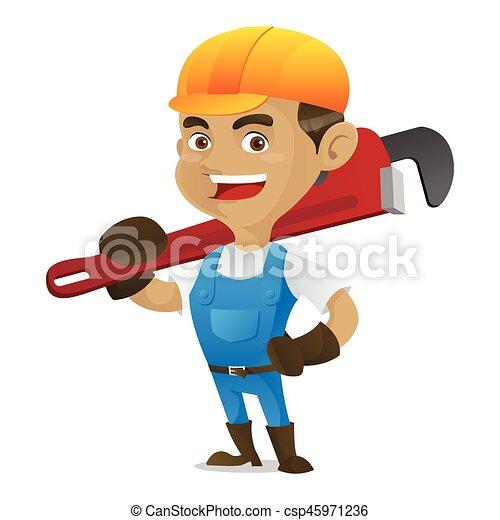 届く, 調節可能, handyman - csp45971236