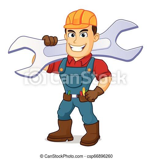 届く, handyman, レンチ - csp66896260