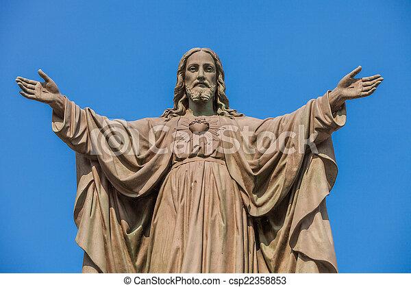 屋外, 像, イエス・キリスト - csp22358853