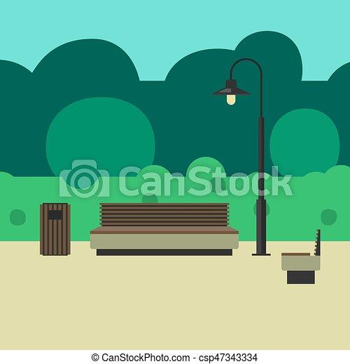 屋外, 照明, 家具 - csp47343334
