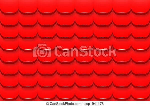 屋根 デジタル タイル パターン 屋根 イラスト デジタル 赤