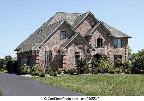 屋根, ヒマラヤスギ, 贅沢, 振動, 家, れんが - csp2465519