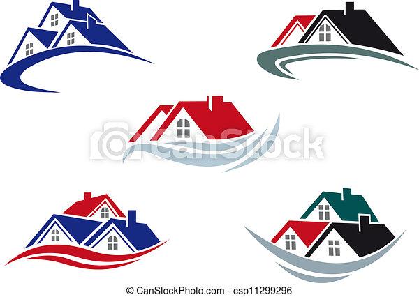 屋根, 家 - csp11299296