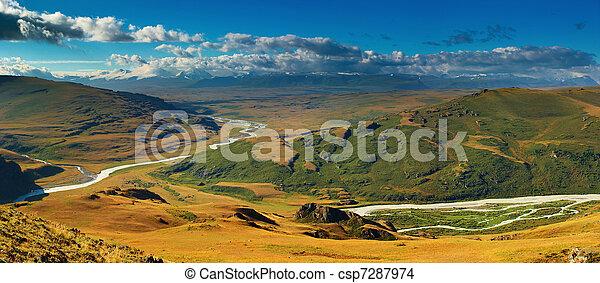 山の景色, プラトー, ukok - csp7287974