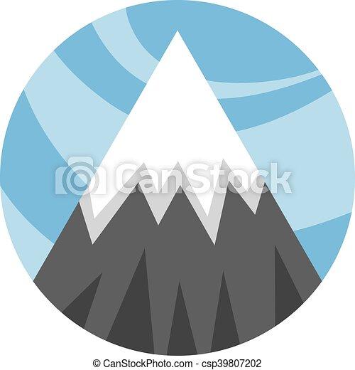 山地, ベクトル, アイコン - csp39807202