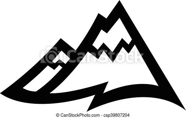 山地, ベクトル, アイコン - csp39807204