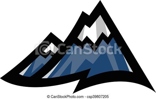 山地, ベクトル, アイコン - csp39807205