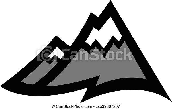 山地, ベクトル, アイコン - csp39807207