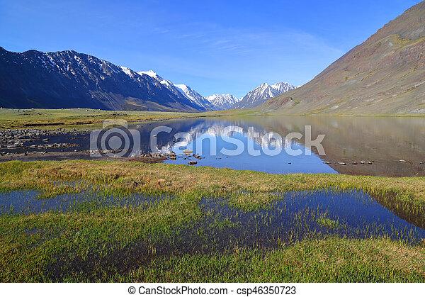 山湖, 风景 - csp46350723