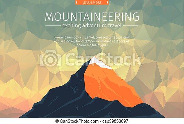 山達到最高峰, 風景 - csp39853697