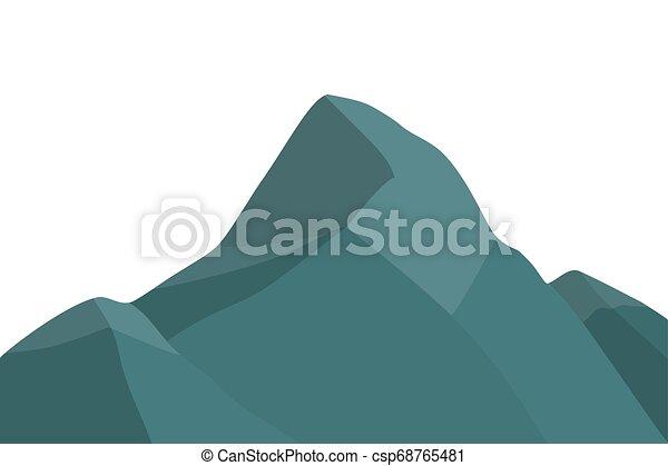 山達到最高峰, silhouette. - csp68765481