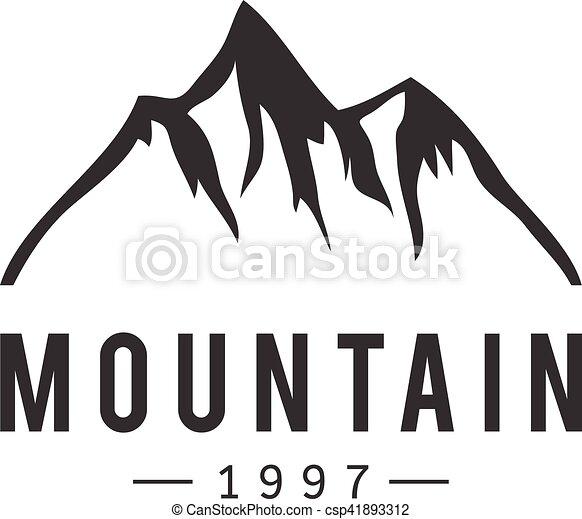 山, ベクトル, バッジ, アイコン - csp41893312