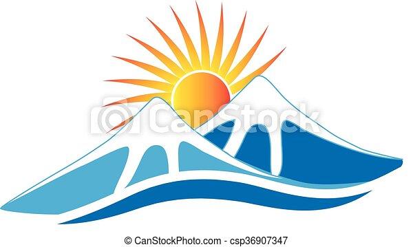 山, ロゴ - csp36907347