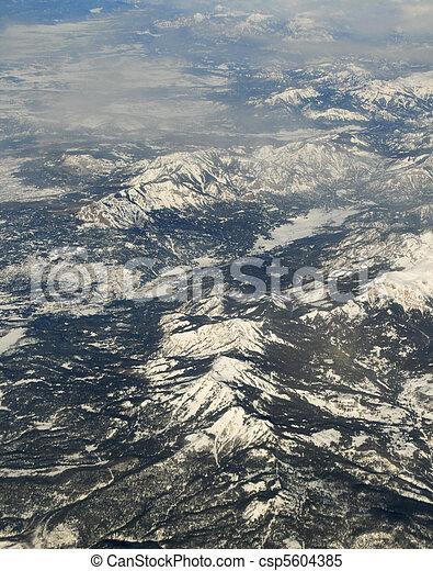 山, 写真, 航空写真 - csp5604385
