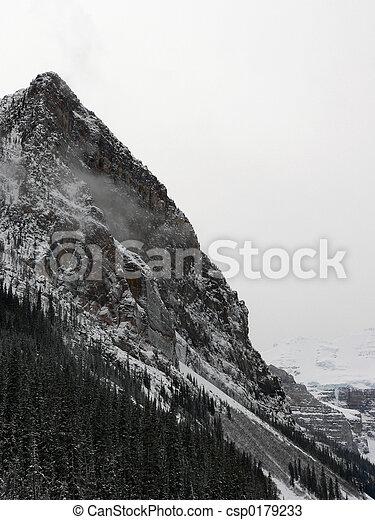 山, 冬, ピークに達しなさい - csp0179233