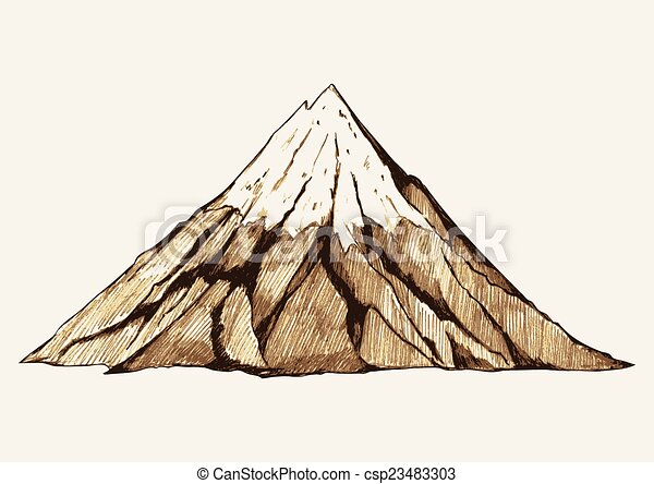 山, 多雪 - csp23483303