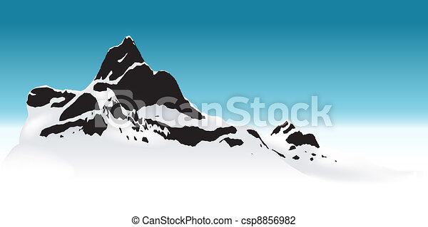 山, 多雪 - csp8856982