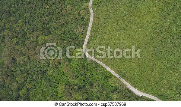 山, 島, luzon, 道, フィリピン。 - csp57587969
