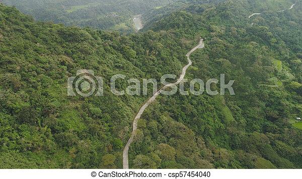 山, 島, luzon, 道, フィリピン。 - csp57454040