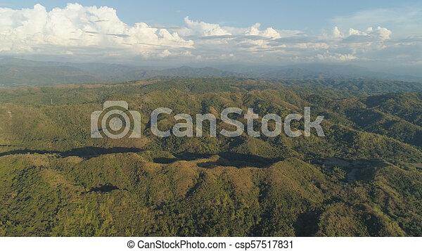 山, 島, luzon, 風景, フィリピン。 - csp57517831
