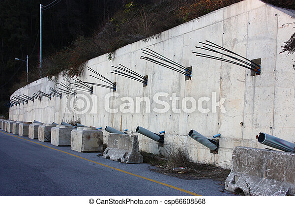 山, 後で, 仕事, ensure, ronds, タイ, 地すべり, 道 - csp66608568