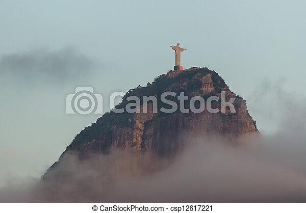 山, 救助者, キリスト, corcovado - csp12617221