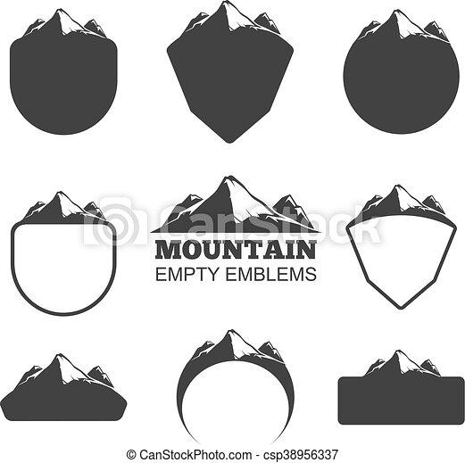 山, 矢量, 集合, retro, 徽章 - csp38956337