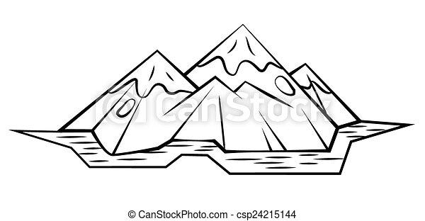 山矢量图简笔画