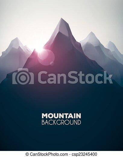 山, 背景 - csp23245400