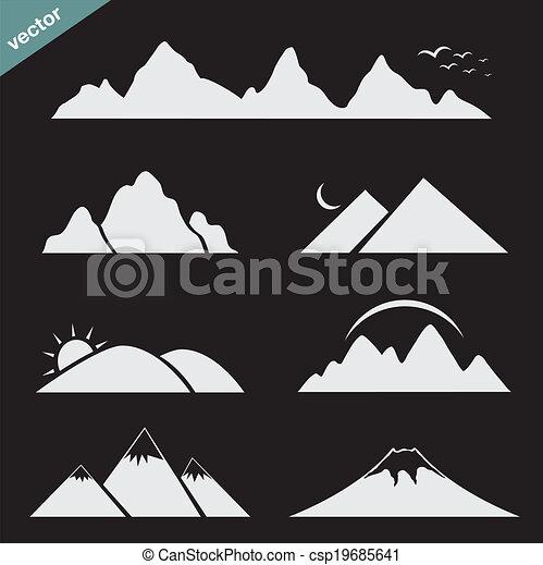 山, 集合, 圖象 - csp19685641