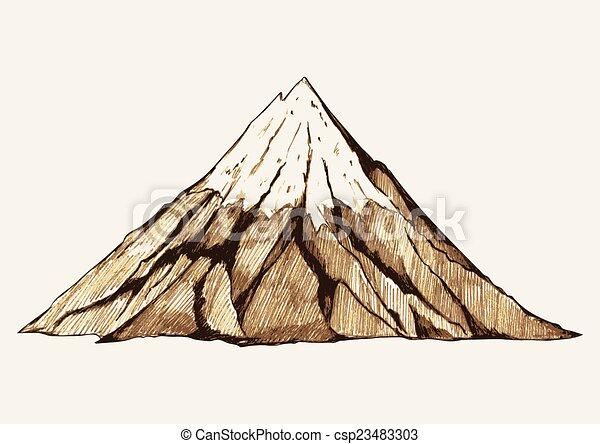 山, 雪が多い - csp23483303