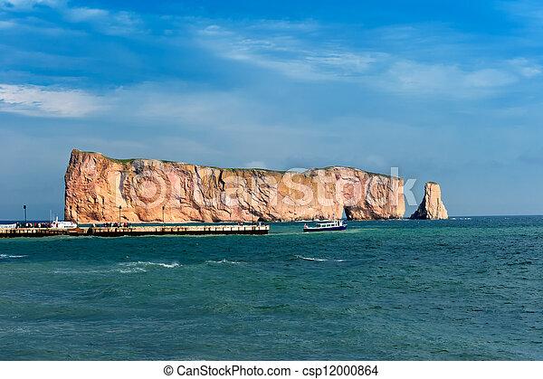 岩石, 著名, perce, 地方, gaspe - csp12000864
