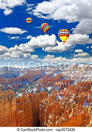 峡谷, bryce 公園, 国民 - csp3073436