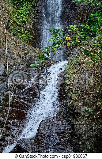 島, フィリピン。, 滝, panay - csp81986067