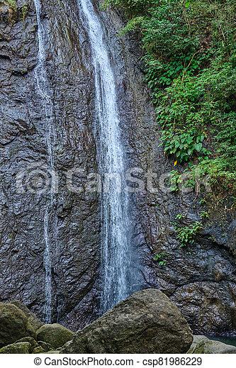 島, フィリピン。, 滝, panay - csp81986229