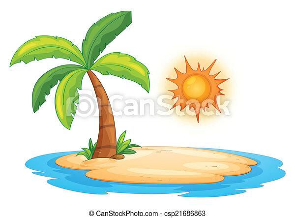 島, 砂漠 - csp21686863