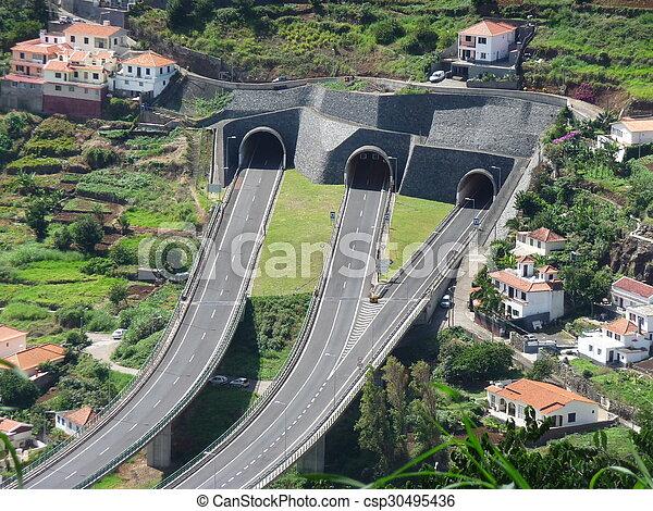 島, 道, トンネル - csp30495436