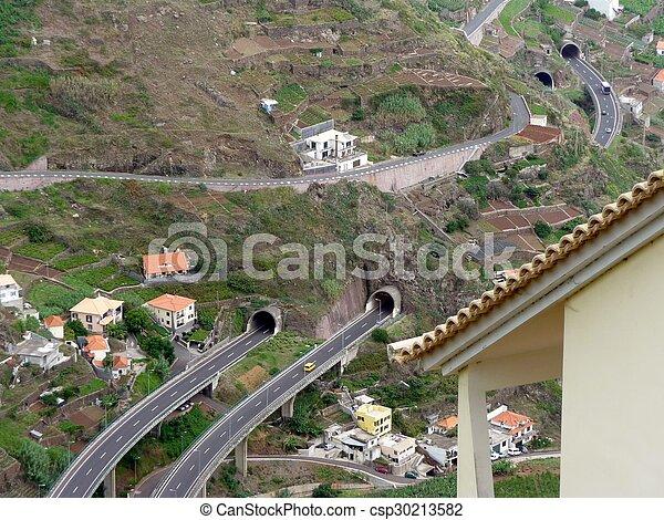 島, 道, トンネル - csp30213582