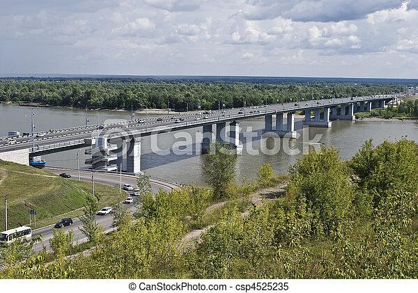 川, 上に, 橋 - csp4525235