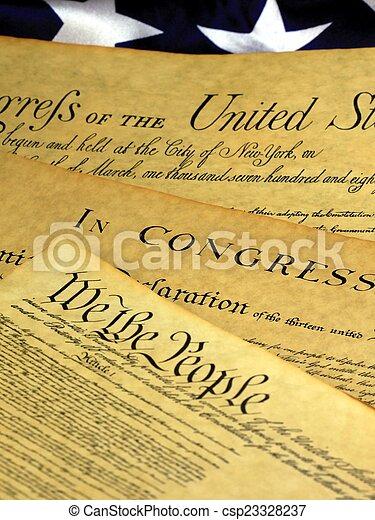 州, 合併した, 憲法 - csp23328237