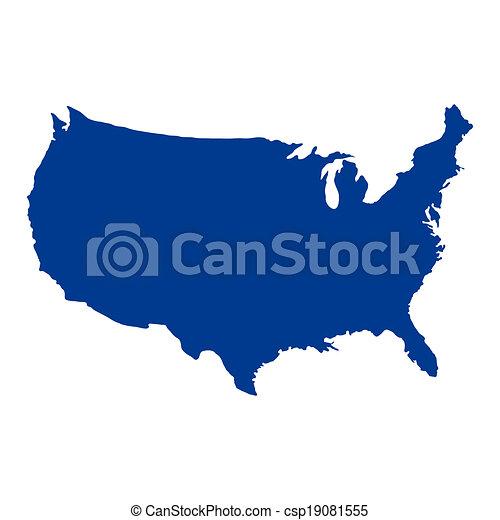 州, 地図, 合併した, アメリカ - csp19081555