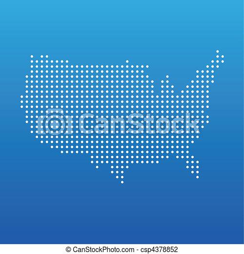 州, 地図, 合併した, 点 - csp4378852