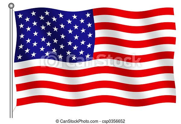 州, 旗, 合併した, アメリカ - csp0356652