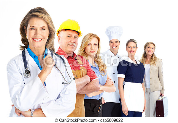 工人, 人們 - csp5809622